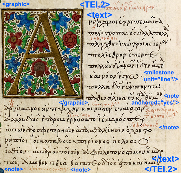 Text Encoding for Ancient and Modern Literature, Languages and History