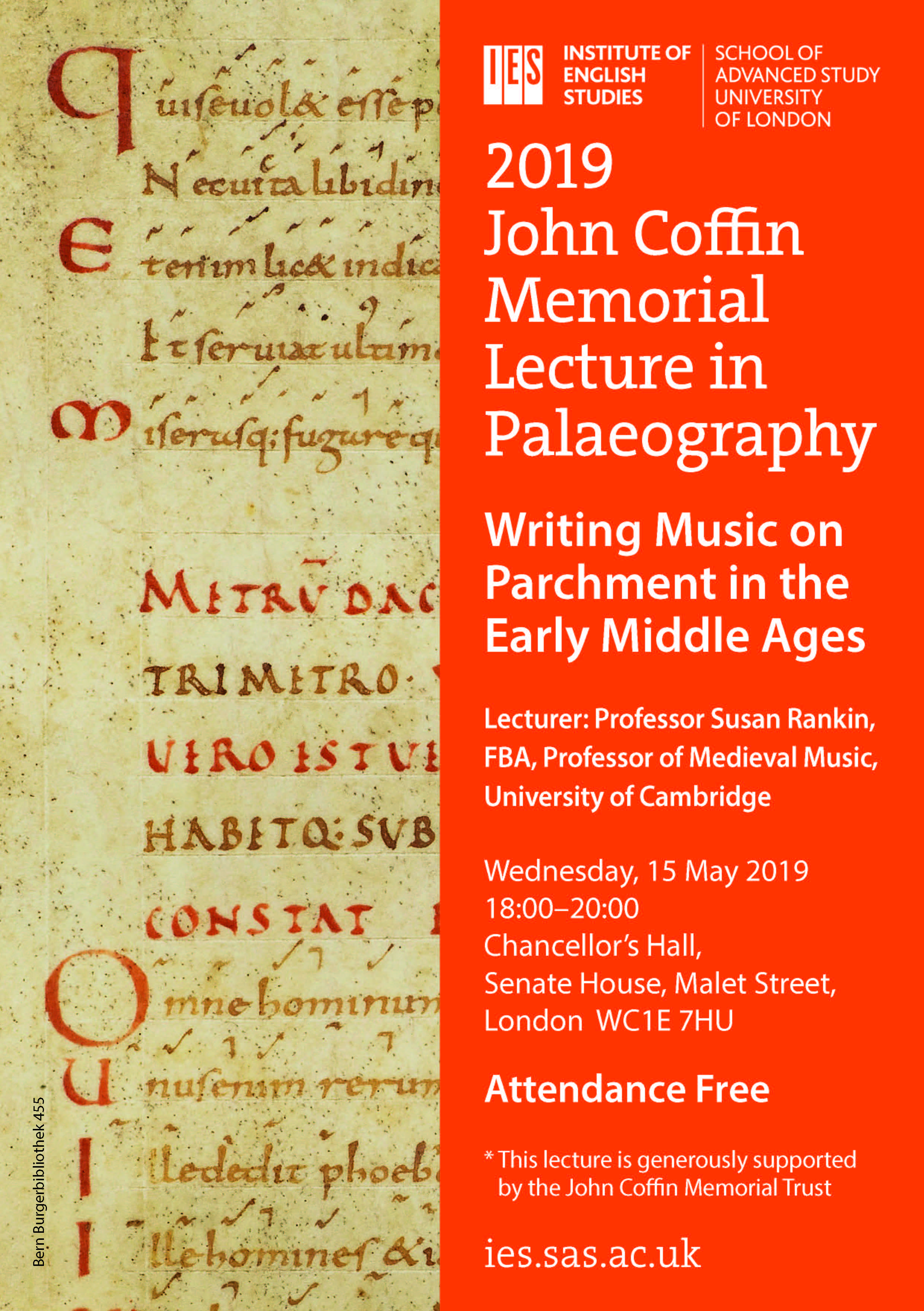 John Coffin Memorial Palaeography Lecture