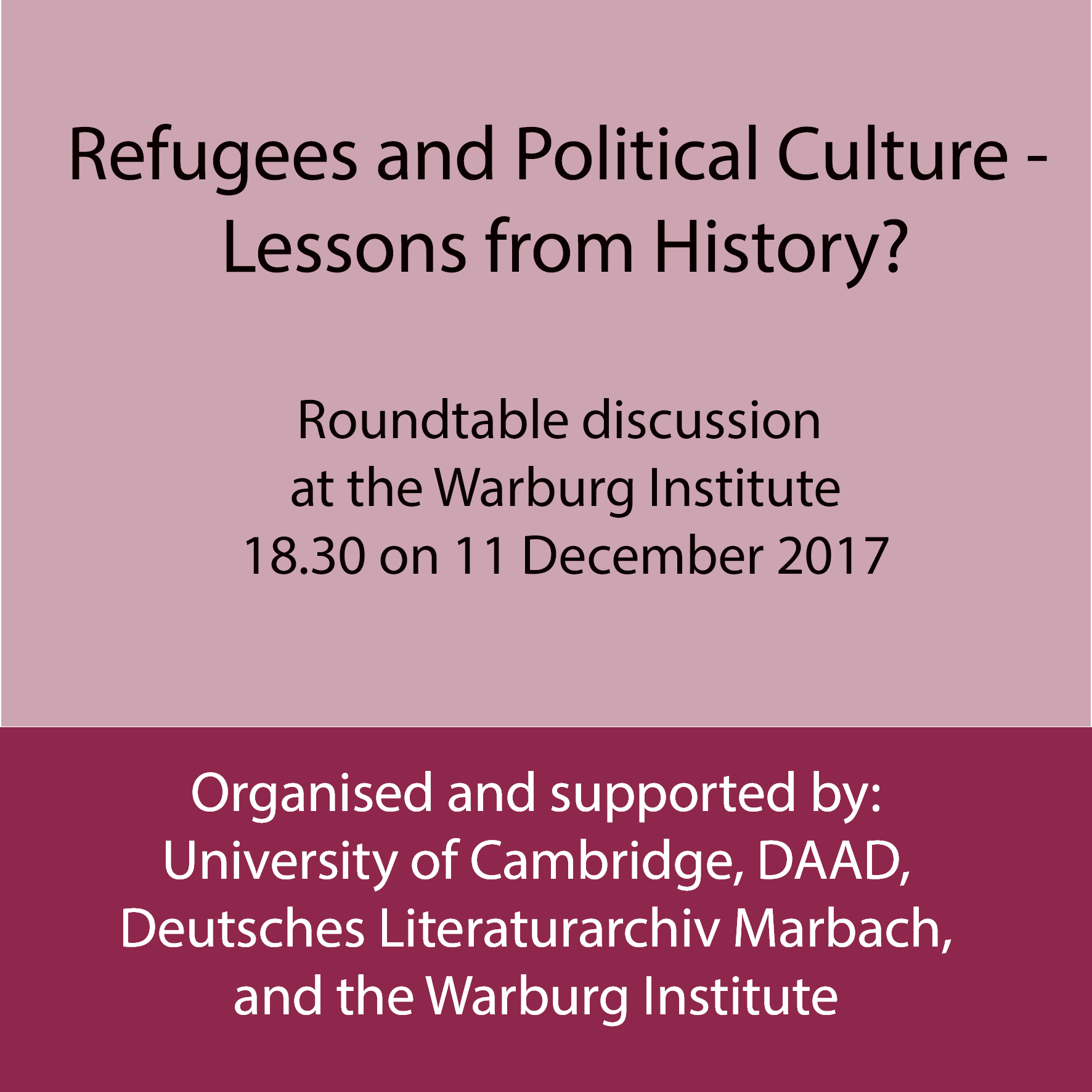 Refugees and Political Culture – Lessons from History?