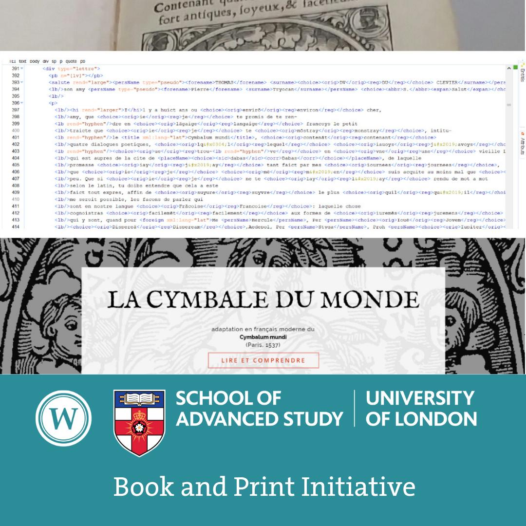 Book and Print Initiative - Jean-François Vallée (Collège de Maisonneuve, Montréal): 'From the Cymbalum mundi to the Cymbale du monde'