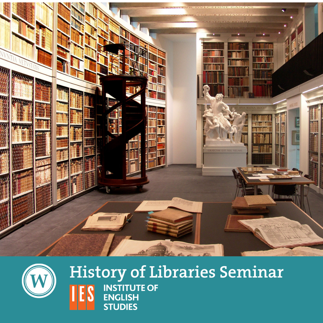 History of Libraries Seminar -  'Private Library Catalogues as Sources for Library History: an Appreciation'