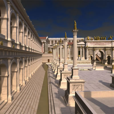 Virtual Rome - a digital model of the ancient city