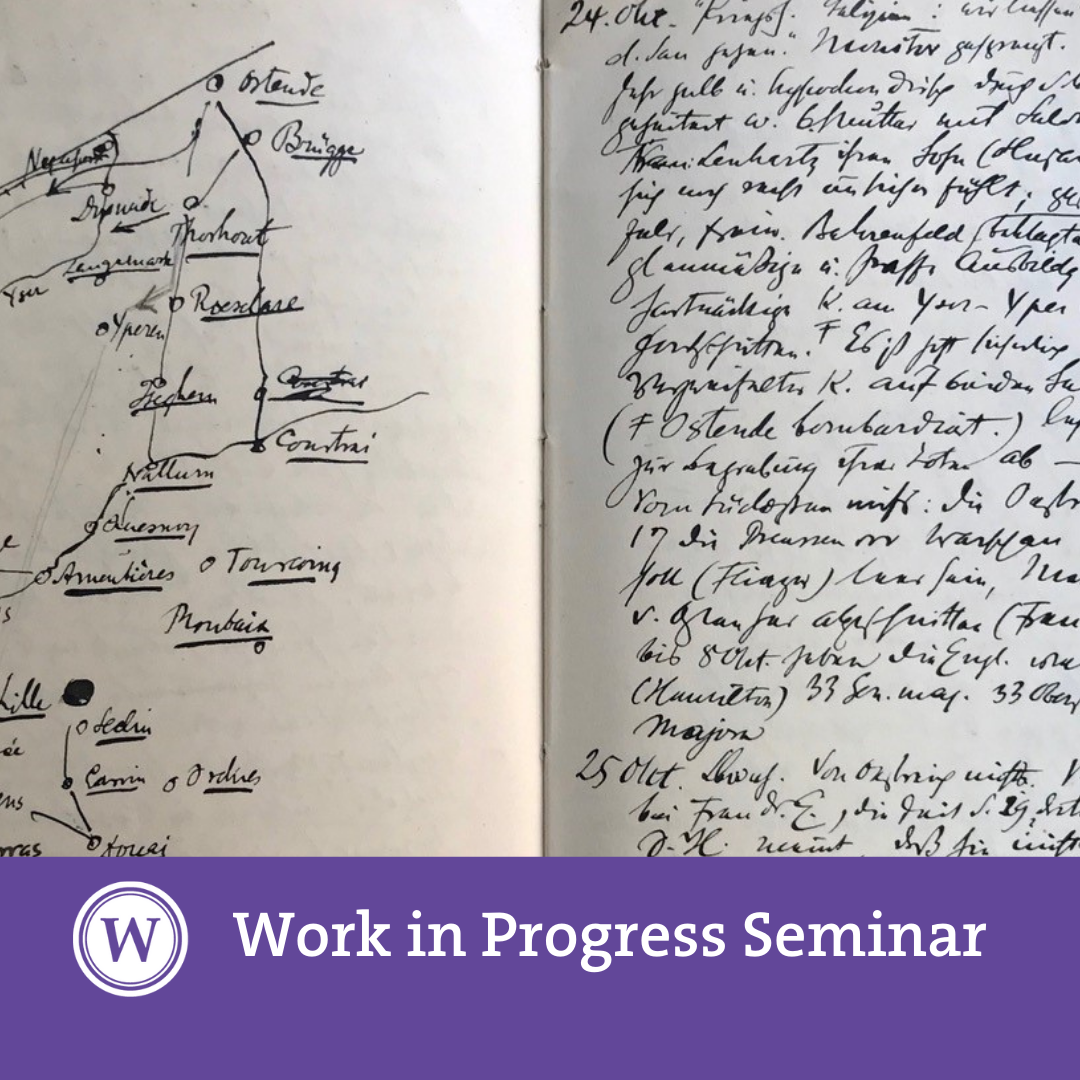 Work in Progress - Steffen Haug (Bilderfahrzeuge Research Project): 'Politics in words and images: Warburg, his journal and the newspapers 1914–18'