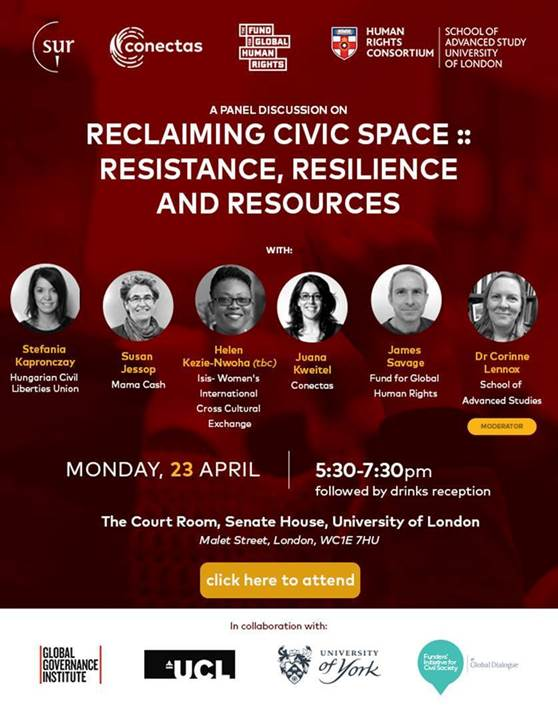 Reclaiming Civic Space: Resistance, Resilience and Resources